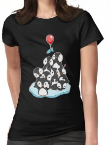 Penguin mountain Womens Fitted T-Shirt