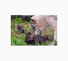 Timber Wolf And Pups Unisex T-Shirt