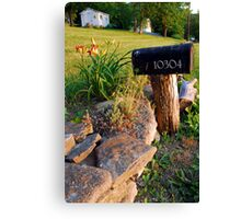 Country Road Mailbox Canvas Print