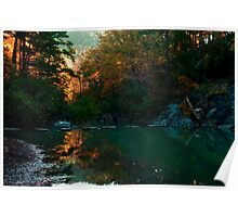 Backlit Morning Stream Poster