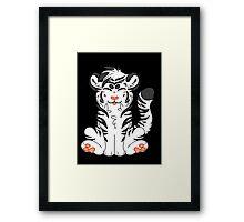 Cute Chibi White Tiger Framed Print