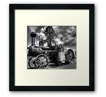 old steam tractor HDR Framed Print