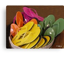 Decorator Sandals Canvas Print