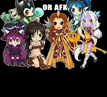 Support or AFK - League of Legends by linkitty