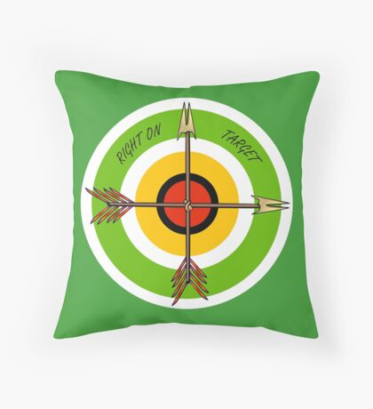 Arrows Right on Target Throw Pillow