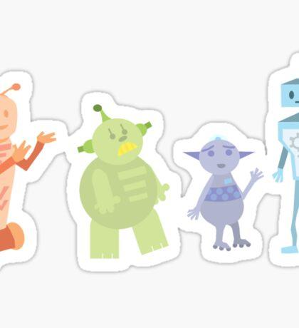 Colourful Bot Squad Sticker