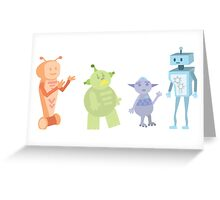 Colourful Bot Squad Greeting Card