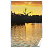 Sunsets On Wonga Wetlands. Poster
