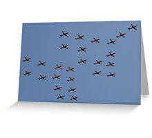 PC9 formation flyby. Greeting Card