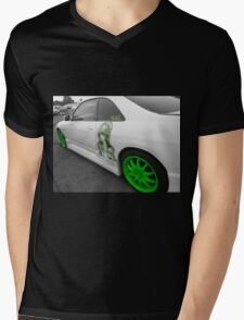 Black, White and Green! Mens V-Neck T-Shirt