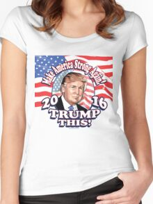 Trump This 2016 Donald Trump Portrait Women's Fitted Scoop T-Shirt