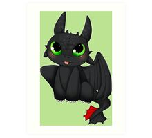 Toothless - How to Train your dragon Art Print