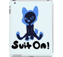 Suit on Blue with Black Font iPad Case/Skin
