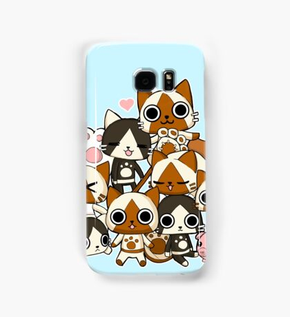 Airou & Merorou Monster Hunter cats Samsung Galaxy Case/Skin