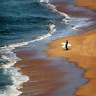 Clifton Beach Surfers by Mike Calder