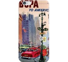 Fly BCPA to America Vintage Poster Restored iPhone Case/Skin