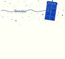 Fantastic TARDIS (in blue) by Holly Faulkner