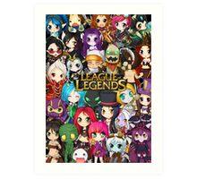 Chibi League of Legends Art Print