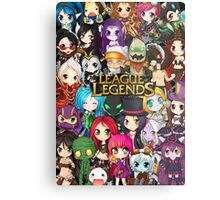 Chibi League of Legends Metal Print