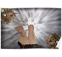 Victorian Lace Up Boots Poster