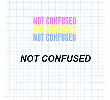 """Pansexual """"Not Confused"""" with graph Photographic Print"""