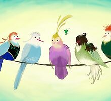 Princess Birds by LadyElizabeth