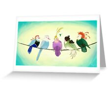 Princess Birds Greeting Card