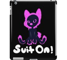 Suit on Pink with White Font iPad Case/Skin