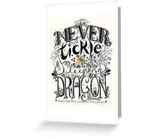 Never Tickle a Sleeping Dragon (Color) Greeting Card