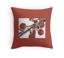 Berry Ice Throw Pillow