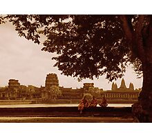 Monks visiting  Photographic Print