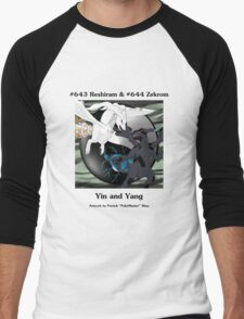 Reshiram & Zekrom: Yin & Yang Men's Baseball ¾ T-Shirt