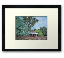 The Old Shearing Shed Framed Print