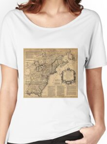 Map of North America by Jefferys & Anville (1755) Women's Relaxed Fit T-Shirt