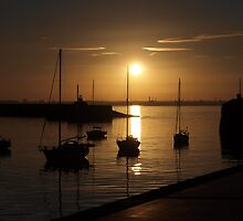 Quiet time in Dun Laoghaire Harbour by Matt Nolan
