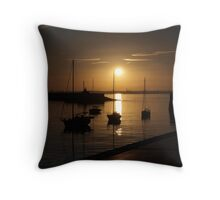 Quiet time in Dun Laoghaire Harbour Throw Pillow