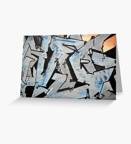Graffiti Blue Grey Greeting Card