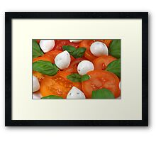 Caprese With Orange Coloured Tomatoes Framed Print