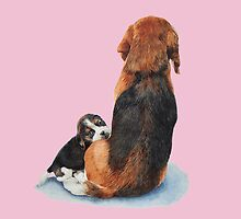 cute beagle puppy dog and mum by pollywolly