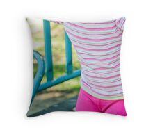 Pink pants Throw Pillow