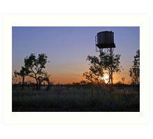 Wolfe Creek Water Tower Art Print