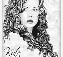Kate Beckinsale drawing by wu-wei
