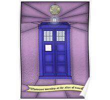 Whovian stained glass Poster