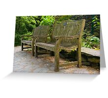 Grasmere Benches Greeting Card