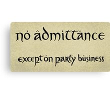 no admittance Canvas Print