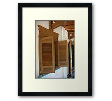 wooden window Framed Print