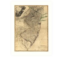 The Province of New Jersey Map (1778) Art Print
