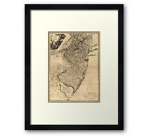 The Province of New Jersey Map (1778) Framed Print