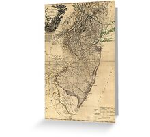 The Province of New Jersey Map (1778) Greeting Card