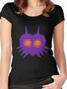 Majora's Mask- Ancient Ominous Mask Women's Fitted Scoop T-Shirt
